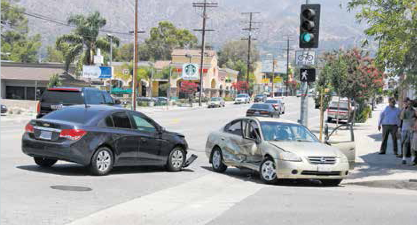 A left-hand turn through an on-coming car equals a mess.
