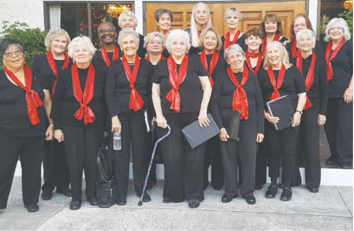 Women's chorus getting together for their 39th public concert.